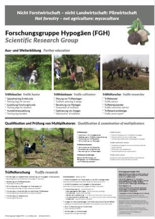 Poster der Trüffelschule - Aus- und Weiterbildung im Trüffelanbau